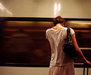girl, photography, and train image