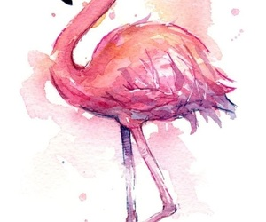 flamingo, wallpaper, and art image