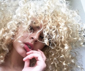 beautiful, curls, and blonde image