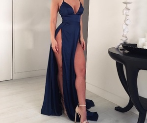 dress, blue, and body image
