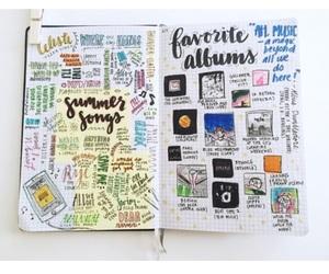 journal, bullet journal, and pen image
