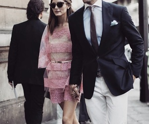 couple, olivia palermo, and pink image