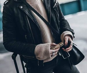 black, details, and leather image