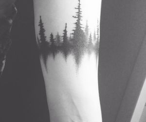 tattoo, forest, and tree image