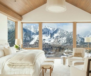 chalet, interior, and homes image