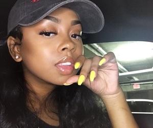 beautiful, makeup, and yellow image