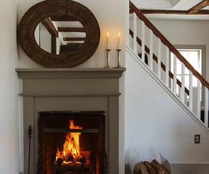 country living, fireplace, and home decor image