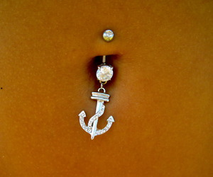 piercing, anchor, and belly image