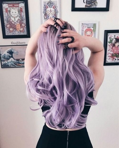 dyed hair, violet, and hair image