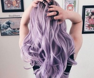dyed hair, purple, and hair image