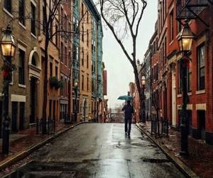 autumn, rain, and city image