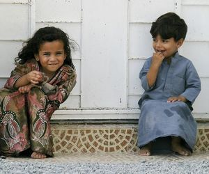 beautiful, boy and girl, and childhood image