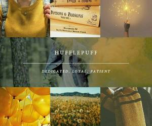 hufflepuff, harry potter, and house image