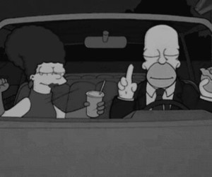 simpsons, homer, and marge image