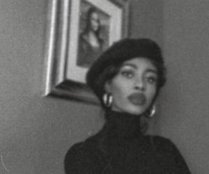 black, vintage, and white image