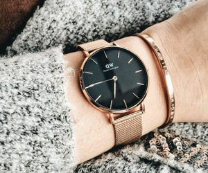fashion, watch, and rose gold image