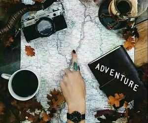 adventure, autumn, and travel image