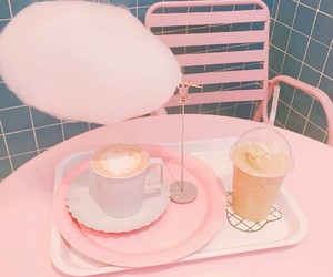 aesthetic, blue, and cafe image