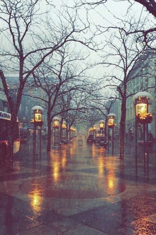 rain, winter, and city image