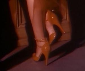 heels, vintage, and red image