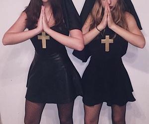 best friend, Halloween, and nun image