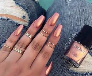 jeans, nails, and rings image