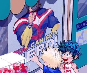 boku no hero academia, bakugou, and midoriya izuku image