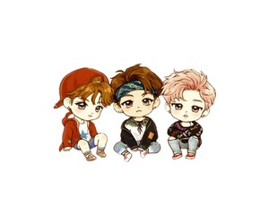 chibi, jimin, and fanart image