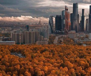 autumn, Central Park, and cloudy image