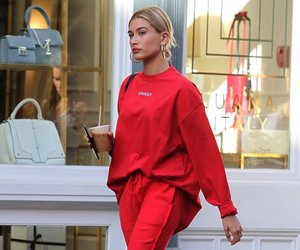 hailey baldwin and red image