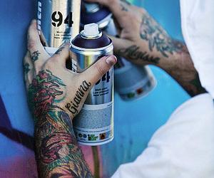 tattoo, graffiti, and spray image