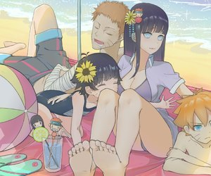 anime, drawing, and family image