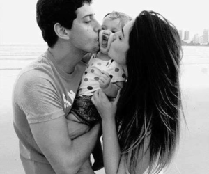 baby, black and white, and kids image