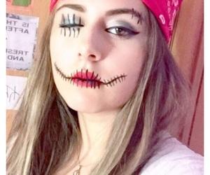 art, eyeliner, and redlips image