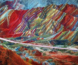 mountains, china, and landscape image
