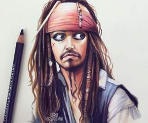 art, jack sparrow, and pirates of the caribbean image