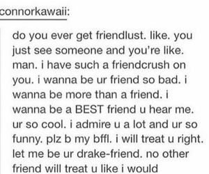 crush, friendship, and funny image