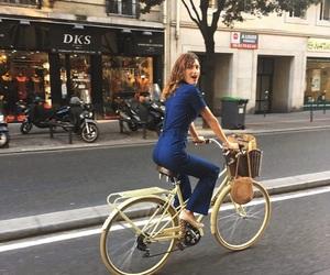autumn, fashion, and bike image