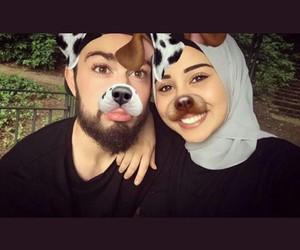 couple, hijab, and snap image