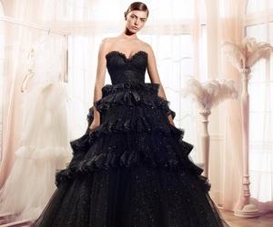 black dress, girl, and swan lake image