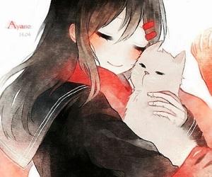 cat, anime, and anime girl image