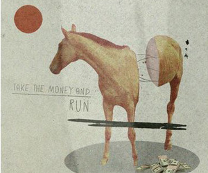 horse, Collage, and vintage image