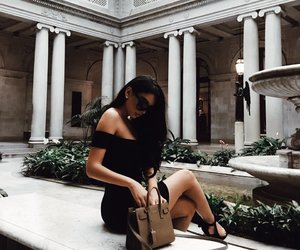brunette and fashion image