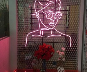 pink, neon, and light image