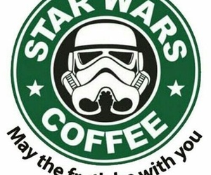 coffee, storm trooper, and froth image