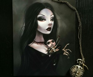 addams, art, and dark image