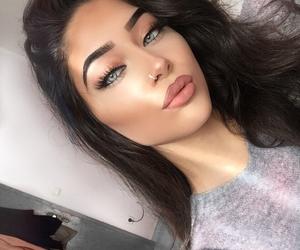 brunette, makeup goals, and makeup+beauty+slay image