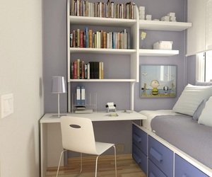 bedroom, small, and teen image