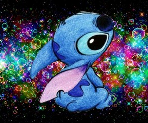💚, stich, and ❤ image
