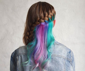 braid, brunette, and stylé image
